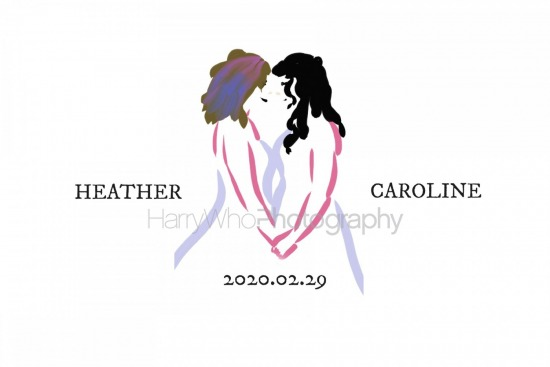 Caroline and Heather - Sign In Book